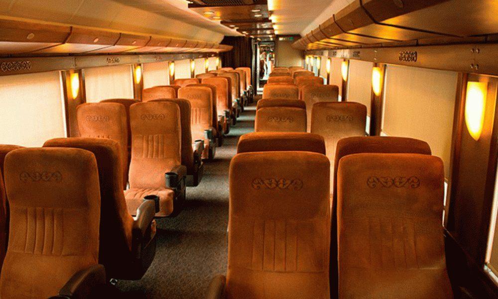 Asientos vagón pasajeros