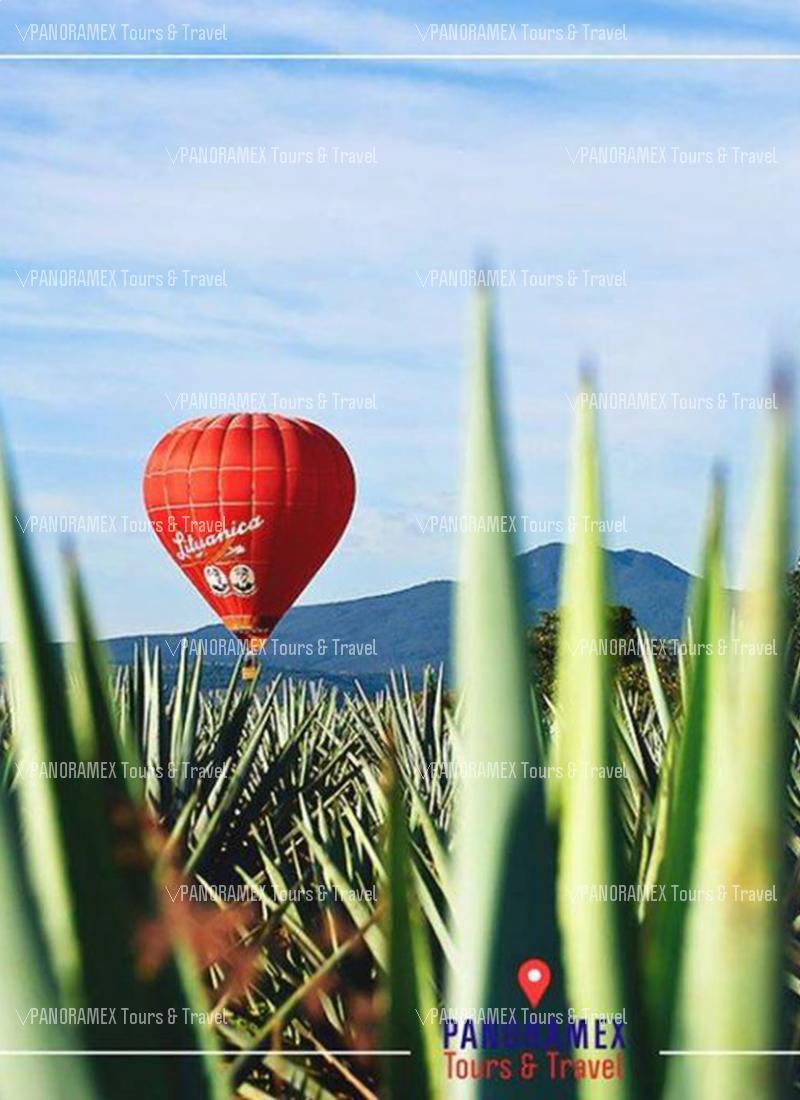 vuelo en globo aerostatico sobre tequila